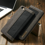 Luxury Black Jeans Leather Flip Wallet iPhone Cover Bag